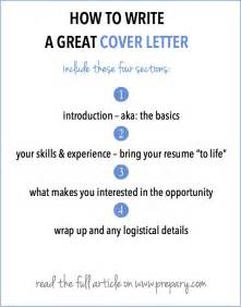 How To Write A Cover Letter Sle How To Write A Cover Letter The Prepary The Prepary