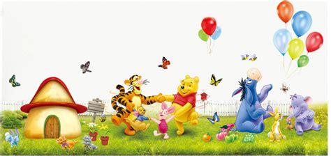 chambre bébé winnie l ourson sticker mural la ronde de winnie l ourson et ses amis le