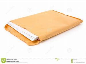 big envelope and document stock photo image of file With document envelope