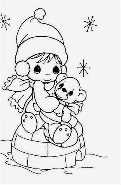 Coloring Princess Doll Cartoon Drawing Colour Pages