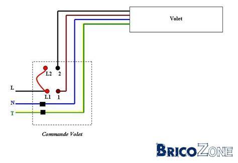 schema unifiliaire interrupteur pours volet electrique