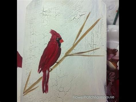 learn paint cardinal bird youtube
