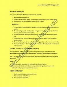 Philosophy Of Nursing Essay Vision Statement
