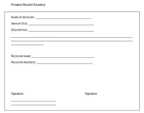 Payment Receipt Template The Proper Receipt Format For Payment Received And General