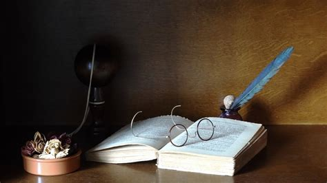 glasses feathers books objects  wallpaper high