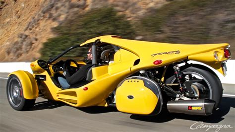 't-rex' Fast Car Drives On Three Wheels