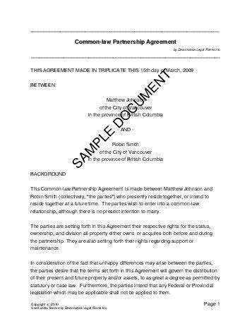 ontario separation agreement template prenuptial agreement canada templates agreements contracts and forms
