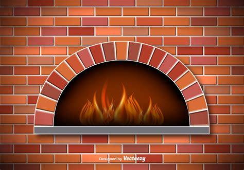 vector rustic pizza oven   vector art stock