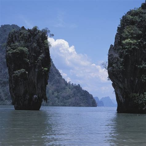 asia landmarks southeast thailand coastline rock formations usa getty remarkable waters studded emerald today