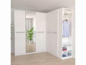 Dressing D Angle Alinea : caisse d 39 angle 1 porte twist coloris blanc vente de armoire conforama ~ Teatrodelosmanantiales.com Idées de Décoration