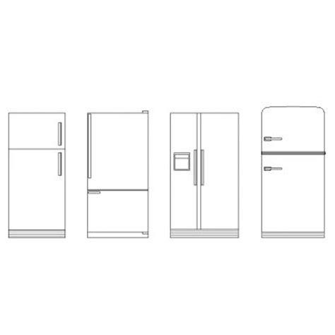 cuisine autocad réfrigérateurs en élévation dwg blocscad com