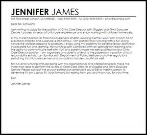 resume for child care director child care director cover letter sle livecareer