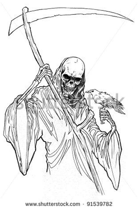 femal grim reaper  art bing images reaper drawing