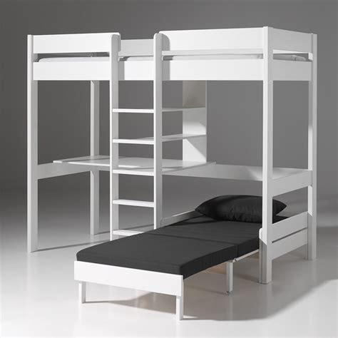 mezzanine canap photo lit mezzanine 2 places avec canape lit chaios com