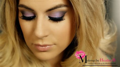 mac smokey eye tutorial  blue eyes makeup  heather