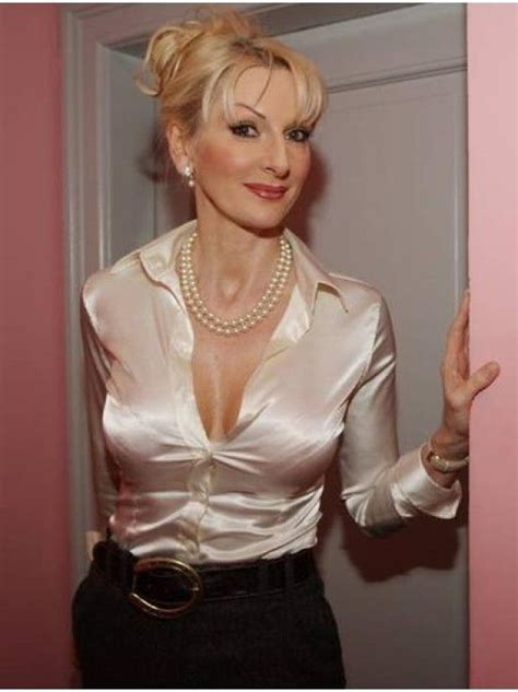 Mature Lady In Satin Blouse Mature And Sexy Pinterest