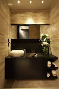 la vasque en pierre en 72 photos archzinefr With salle de bain design avec vasque en pierre noire