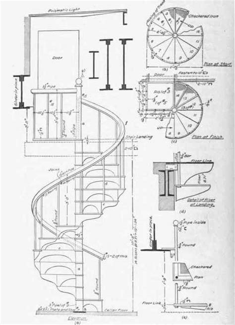 circular staircase plans circular stairs
