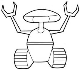 crawler robot coloring page free printable coloring pages With see a robot workout