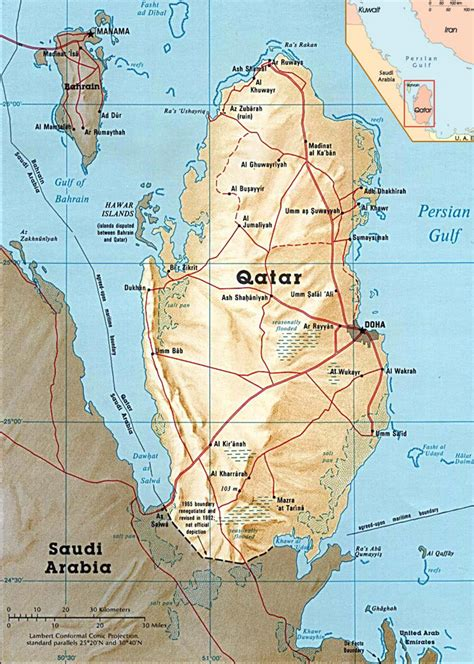 qatar doha map capital asia maps country torch flag katar 1946 arabic countries atlas battle 1983 names autism abu location