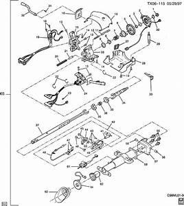 Chevrolet Astro Column  Steering  Column  Strg