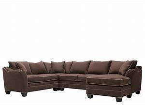 Foresthill 4 pc microfiber sectional sofa chocolate for 5 pc microfiber sectional sofa