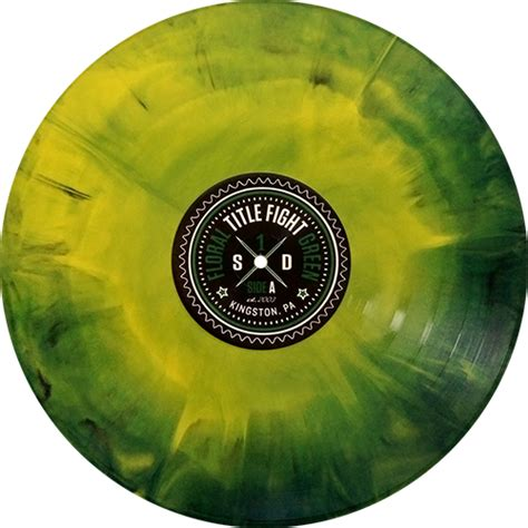 title fight floral green colored vinyl