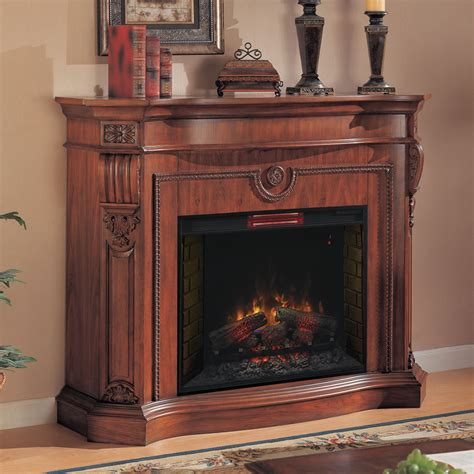 fireplace c florence infrared electric fireplace mantel in heritage