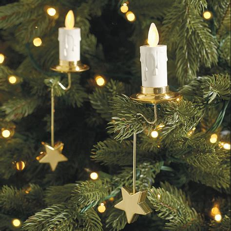 tree set of six flameless candles traditional