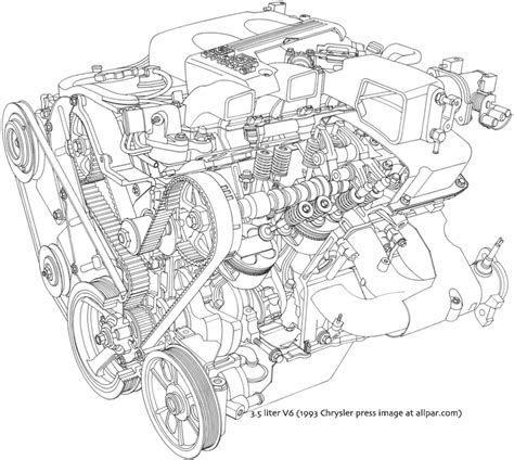V6 Engine Diagram With Name by Chrysler Dodge 3 5 Liter V6 Engines