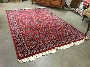 Sold, Price, Sears, Kismet, Persian, Style, Large, Wool, Area, Rug, With, Traditional, Pattern, Red, Base