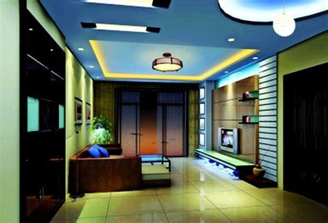 model plafon ruang tamu sederhana biru desain rumah