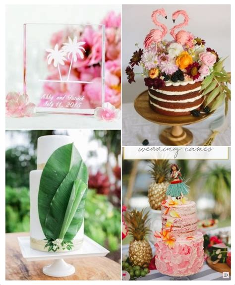 thema deco de gateau decoration mariage tropical