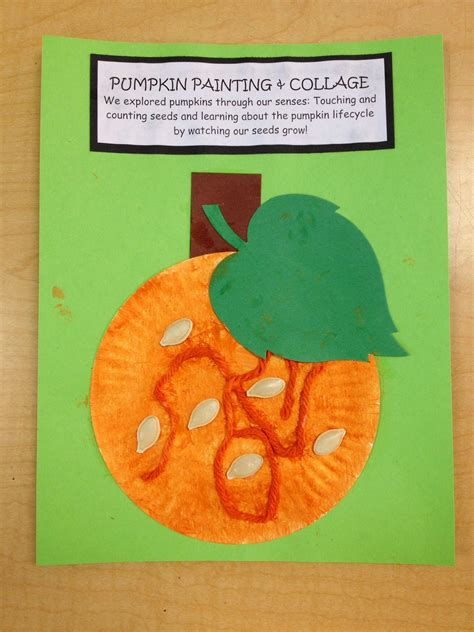 preschool pumpkin painting and collage hang paper 508 | a3991e2c8127fbd53403fa41d6c97aa3