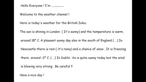 script weather forecast youtube