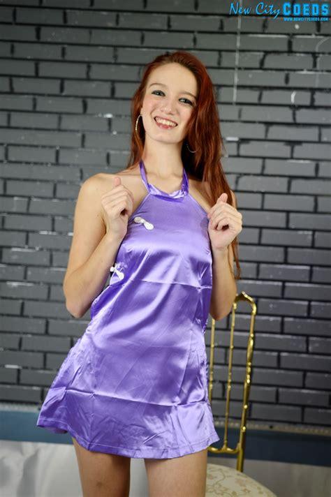 Marie Teen Coed Model Gallery Purple Silk New City