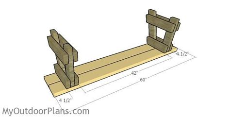 ft picnic table  benches plans myoutdoorplans
