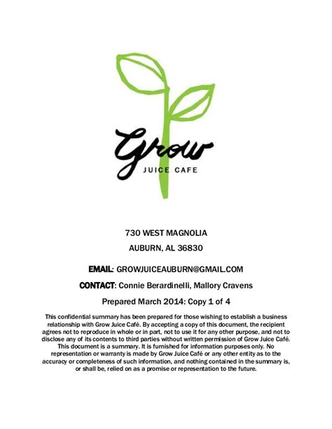 Grow Your Business With A Growth Business Plan 2 Grow A Juice Cafe Business Plan
