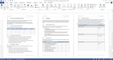 Disaster Recovery Plan Template Word