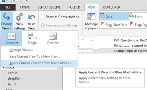 Office 365 Outlook Folders by Office365 Apply View Changes To Folders In
