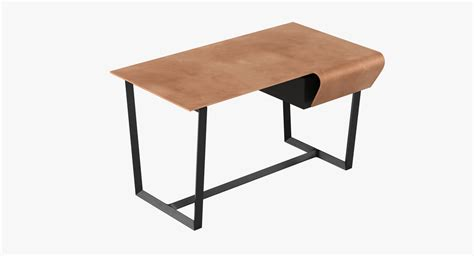 Poltrona Frau Fred Desk 3d Model