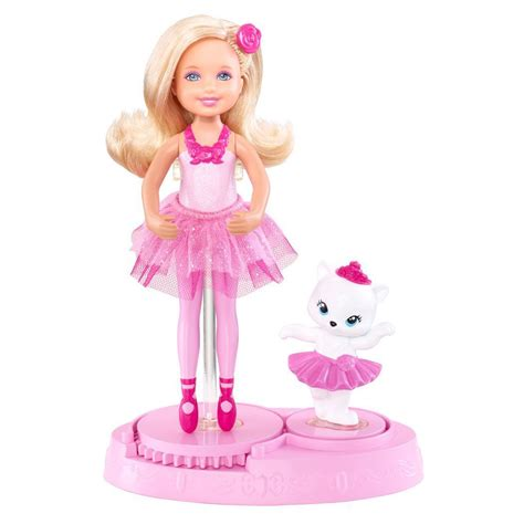 barbie toys pink shoes chelsea ballerina doll at toystop
