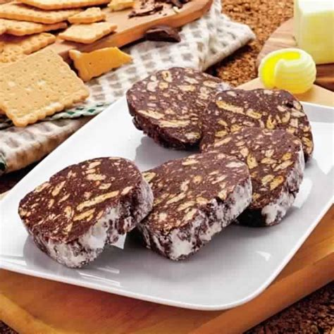 dessert corn flakes chocolat beurre peanut saucisson au chocolat pause gourmande