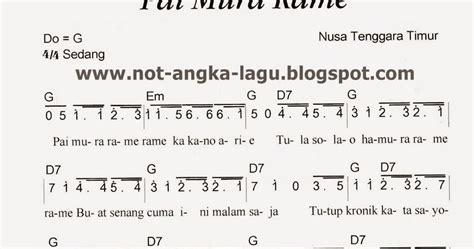 not angka lagu potong bebek angsa not angka lagu pai mura rame rame kumpulan not angka lagu