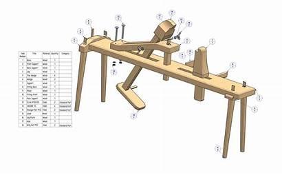 Shaving Horse Plan Parts Plans Shave Pdf