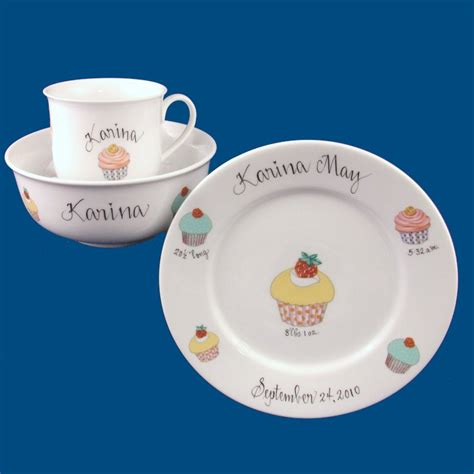 Personalized baby plate set castrophotos personalized gifts baby gifts dish set negle Choice Image