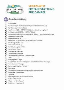 Erstausstattung Haushalt Liste : checkliste erstausstattung f r wohnwagen reisemobile ~ Markanthonyermac.com Haus und Dekorationen