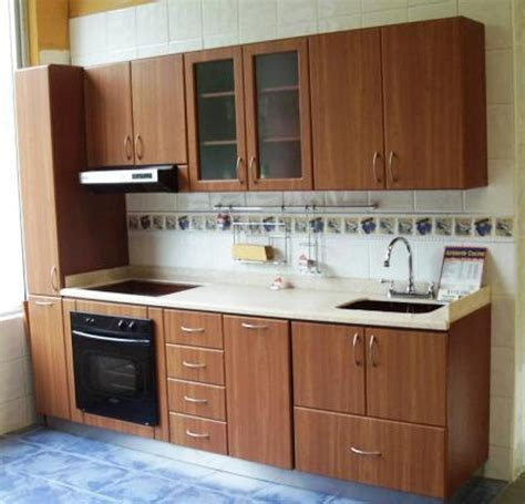 foto cocina melamina de cocinas  closets del valle