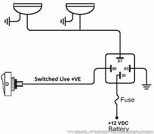 how to mk2 escort wiring spot lamps With current relay wiring diagram