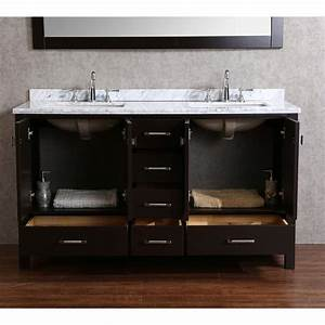 buy vnicent 60quot solid wood double bathroom vanity in With solid wood vanities for bathrooms